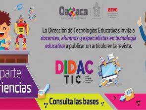 DidacTIC, Revista Oaxaqueña de Tecnología Educativa