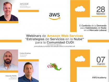 """Webinars de Amazon Web Services """"Estrategias de Servicios en la Nube"""""""