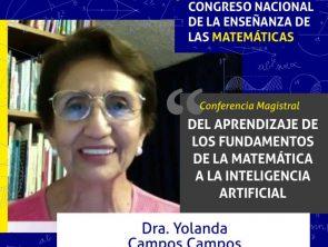La Dra. Yolanda Campos presentará conferencia magistral sobre matemáticas e inteligencia artificial