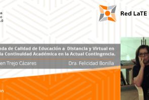 Mesa redonda de calidad en Educación a Distancia y Virtual en la continuidad académica en la actual contingencia