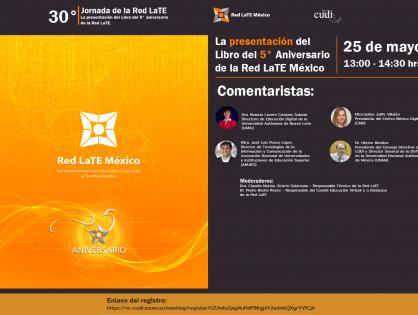 """Presentación del libro """"5to. Aniversario de la RedLate México"""""""